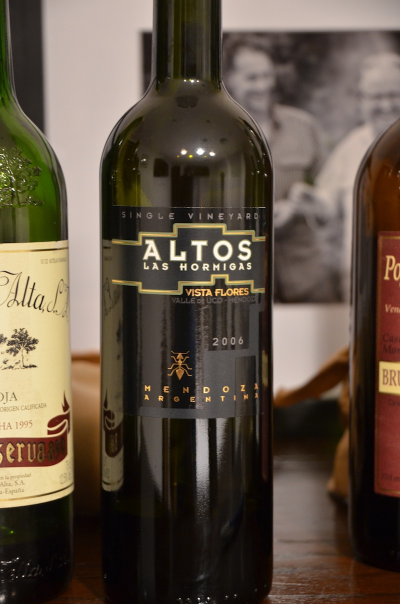Altos Las Hormigas Single Vineyard Vista Flores Malbec, Harvest 2012
