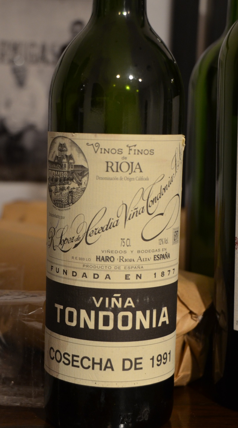 Rioja Vina Tondonia 91 Altos Las Hormigas Harvest 2012